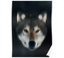 Pixelated Wolf Poster