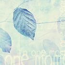 Leaves in Blue Ginger Contemporary Art Print by Natalie Kinnear