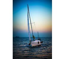 Sailing and sunset Photographic Print