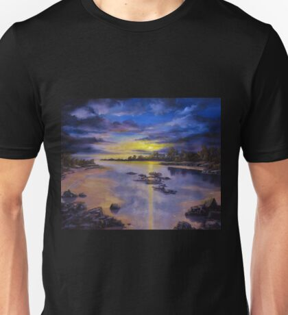 Low Tide Sunset Unisex T-Shirt