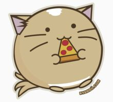 Fuzzballs Pizza Cat by rabbitbunnies