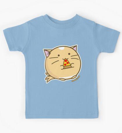 Fuzzballs Pizza Cat Kids Tee