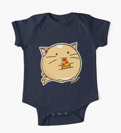 Fuzzballs Pizza Cat One Piece - Short Sleeve