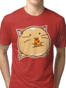 Fuzzballs Pizza Cat Tri-blend T-Shirt
