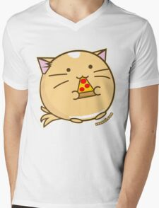 Fuzzballs Pizza Cat Mens V-Neck T-Shirt