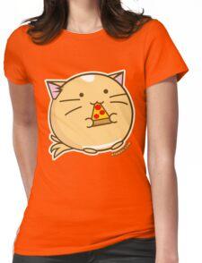 Fuzzballs Pizza Cat Womens Fitted T-Shirt