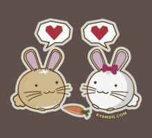 Fuzzballs Bunny Love Carrot One Piece - Short Sleeve