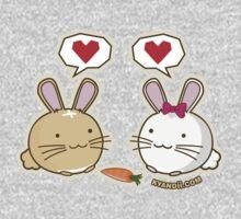 Fuzzballs Bunny Love Carrot One Piece - Long Sleeve