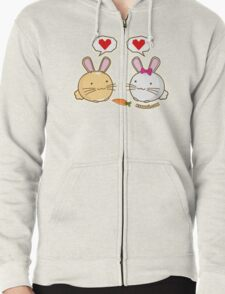 Fuzzballs Bunny Love Carrot Zipped Hoodie