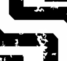 Letter S (Distressed) two-color black/white character Sticker