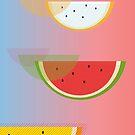 Watermelon print by drunkonwater