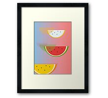Watermelon print Framed Print