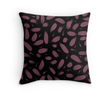 Mauve & Black Throw Pillow