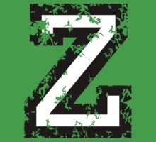 Letter Z (Distressed) two-color black/white character Kids Clothes