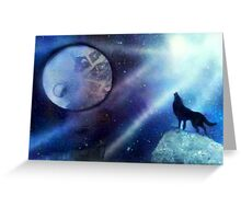 The Wolf and The Moon Greeting Card