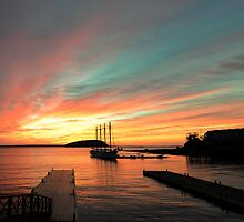 Sunrise at Bar Harbor Maine by woodnimages