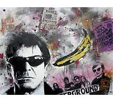 Portrait of Lou Reed Photographic Print