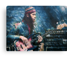 Portrait of Jaco Pastorius Canvas Print