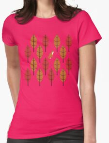 Autumn Fox Womens Fitted T-Shirt