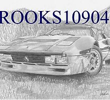 Ferrari 288 GTO EXOTIC CAR ART PRINT by rooks10904