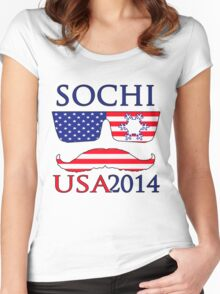 Sochi 2014 2 Women's Fitted Scoop T-Shirt