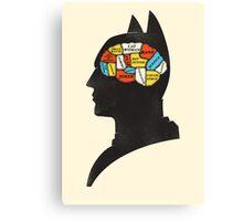 Batman Phrenology Canvas Print