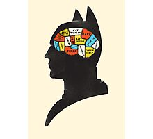 Batman Phrenology Photographic Print