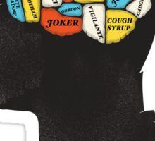 Batman Phrenology Sticker