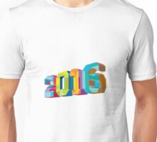 2016 New Year Low Polygon Unisex T-Shirt