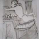 Girl with Bowl of Pears by Kargin