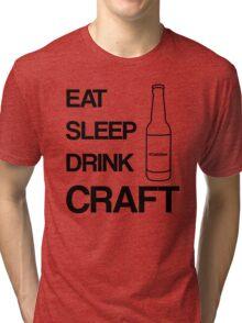 Eat Sleep Drink Craft Black Tri-blend T-Shirt