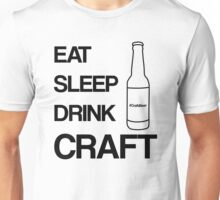Eat Sleep Drink Craft Black Unisex T-Shirt