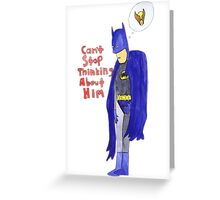 Batman and Wolverine - Forbidden Love Greeting Card