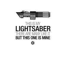this is my lightsaber by Fizziponi