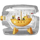 Airship in a Bottle by jangosnow