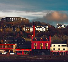 Oban with McCaigs Tower in the background by Islandsimages