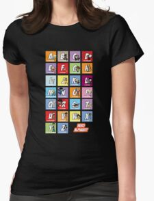 Justice League of Alphabet Womens Fitted T-Shirt