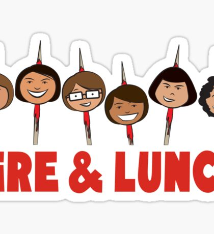 Fire and Lunch Sticker