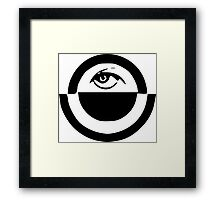 Oppressive Eye (Black) Framed Print