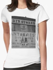 Vernacular typography in Llanelli Womens Fitted T-Shirt