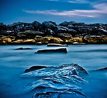 Ashbridges Bay Toronto Canada Breakwall 4 by Brian Carson