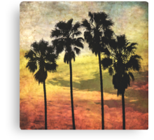 4 Palms Part Deux Canvas Print
