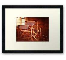 And Weave These Threads Vintage Framed Print
