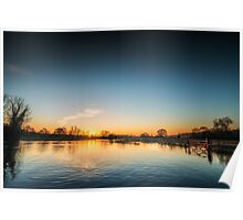 Riverside Sunrise Poster