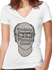 Pretaay Pretaay Good.  Women's Fitted V-Neck T-Shirt