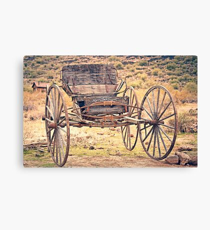 The Buckboard Bounce where West is West Vintage Canvas Print