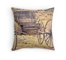 The Buckboard Bounce where West is West Vintage Throw Pillow