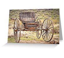 The Buckboard Bounce where West is West Greeting Card