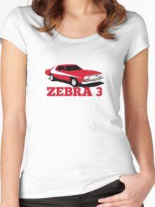 Zebra 3 Women's Fitted Scoop T-Shirt