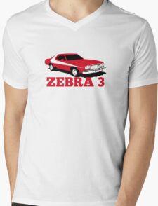 Zebra 3 Mens V-Neck T-Shirt